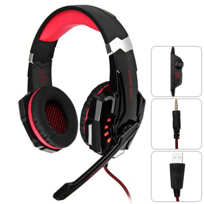 KOTION EACH G9000 3.5mm USB Gaming Headset Over Ear Headpones for PS4