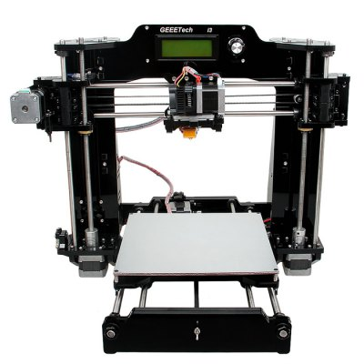 Geeetech I3 3D Printer DIY Kit3D Printers, 3D Printer Kits<br>Geeetech I3 3D Printer DIY Kit<br><br>Brand: Geeetech<br>Engraving Accuracy: 0.1 - 0.3mm<br>File format: G-code, STL<br>Frame material: Acrylic plate<br>Host computer software: Printrun,Repetier-Host<br>LCD Screen: Yes<br>Material diameter: 1.75mm<br>Memory card offline print: SD card<br>Model: I3<br>Nozzle diameter: 0.3mm<br>Operating System: Windows / Mac / Linux<br>Package size: 52.00 x 42.00 x 23.00 cm / 20.47 x 16.54 x 9.06 inches<br>Package weight: 10.0200 kg<br>Packing Contents: 1 x High Accuracy 3D Printer DIY Kit, 1 x Printing Supply (3m)<br>Packing Type: unassembled packing<br>Platform board: Aluminum Sheet<br>Product forming size: 200 x 200mm x 170mm<br>Product size: 49.00 x 45.00 x 49.00 cm / 19.29 x 17.72 x 19.29 inches<br>Product weight: 8.7000 kg<br>Supporting material: Wood, ABS, Nylon PVA, PLA, PVA<br>Voltage: 12V