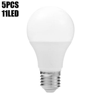 5pcs E27 11 x SMD 2835 5W 460LM LED Ball Bulb Lamp