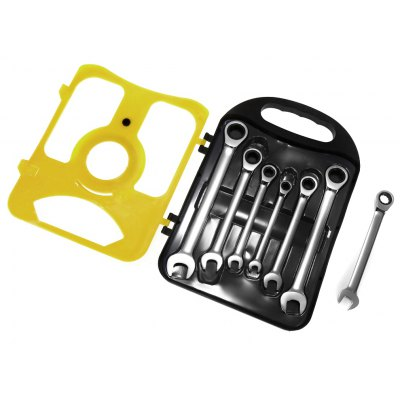 7 in 1 Combination Wrench Set with Ratchet Handles