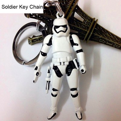 Classic Soldier Style Key Chain Movie Figure Keyring