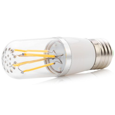 5PCS 4W 340Lm E27 COB LED Filament LightLED Bi-pin Lights<br>5PCS 4W 340Lm E27 COB LED Filament Light<br><br>Available Light Color: Warm White,White<br>CCT/Wavelength: 2800-3200K,6000-6500K<br>Emitter Types: COB<br>Features: Long Life Expectancy, Energy Saving<br>Function: Commercial Lighting, Studio and Exhibition Lighting, Home Lighting<br>Holder: E27<br>Luminous Flux: 340LM<br>Output Power: 4W<br>Package Contents: 5 x LED Filament Lamp<br>Package size (L x W x H): 17.00 x 4.20 x 11.40 cm / 6.69 x 1.65 x 4.49 inches<br>Package weight: 0.215 kg<br>Product size (L x W x H): 3.20 x 3.20 x 10.40 cm / 1.26 x 1.26 x 4.09 inches<br>Product weight: 0.033 kg<br>Sheathing Material: PC<br>Total Emitters: 4<br>Type: Filament Bulb<br>Voltage (V): AC 85-265