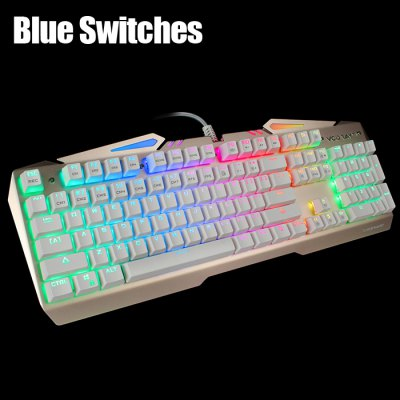 Team Wolf X01S CIY Wired USB Mechanical Keyboard with LED Indicator
