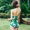 Free Style Three-piece Pattern Halter Bikini Set for Women deal