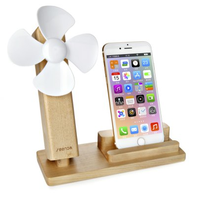 SEENDA USB Fan Mobile Charging StandStands &amp; Holders<br>SEENDA USB Fan Mobile Charging Stand<br><br>Color: Beige,Brown, Beige,Brown<br>Features: ALL-in-1, ALL-in-1<br>Material: Wood<br>Package Contents: 1 x Charging Stand, 1 x USB Fan, 1 x Charging Stand, 1 x USB Fan<br>Package size (L x W x H): 21.40 x 16.70 x 7.00 cm / 8.43 x 6.57 x 2.76 inches, 21.40 x 16.70 x 7.00 cm / 8.43 x 6.57 x 2.76 inches<br>Package weight: 0.510 kg, 0.510 kg<br>Product size (L x W x H): 17.50 x 7.00 x 18.00 cm / 6.89 x 2.76 x 7.09 inches, 17.50 x 7.00 x 18.00 cm / 6.89 x 2.76 x 7.09 inches<br>Product weight: 0.317 kg, 0.317 kg<br>Type: Mobile Holder, Stand