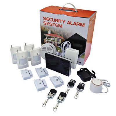 G1 Whole Set Gift Boxed House Alarm System Intelligent Home Security GSM Alarm System - Black with White