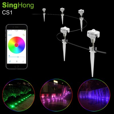 SingHong CS1 Smart LED String LightSmart Lighting<br>SingHong CS1 Smart LED String Light<br><br>Brand: SingHong<br>Model: CS1<br>Type: LED String<br>Features: Cuttable,IP-65,Low Power Consumption,Remote Control,Waterproof<br>Number of LEDs: 9<br>Actual Lumens: Red: 135LM; green: 198LM; blue: 63LM<br>Optional Light Color: RGB<br>Input Voltage: AC100-240<br>Output Voltage: DC 5V<br>Rated Power (W): 9W<br>Rated Current: 3A<br>Product weight: 0.222 kg<br>Package weight: 1.000 kg<br>Product size (L x W x H): 500.00 x 0.30 x 0.10 cm / 196.85 x 0.12 x 0.04 inches<br>Package size (L x W x H): 10.00 x 17.00 x 21.00 cm / 3.94 x 6.69 x 8.27 inches<br>Package Contents: 1 x SingHong CS1 LED String Light, 1 x Adapter, 1 x Control Box, 1 x English Manual, 1 x Screw Pack