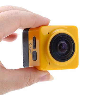 Cube 360 WiFi 360 Degree Wide Angle Action CameraAction Cameras<br>Cube 360 WiFi 360 Degree Wide Angle Action Camera<br><br>Model: Cube 360<br>Type: Sports Camera<br>Chipset Name: GVT100M<br>Chipset: GVT100M<br>Max External Card Supported: TF 32G (not included)<br>Class Rating Requirements: Class 10 or Above<br>Battery Type: Built-in<br>Capacity: 1300mAh<br>Power Supply: 5V 1.5A<br>Charge way: USB charge by PC<br>Working Time: 180min (WiFi off), 90min (WiFi on)<br>Decode Format: H.264<br>Video format: TS<br>Video Resolution: 1280 x 1024<br>Video System: NTSC<br>Audio System: Built-in microphone/speacker (AAC)<br>Interface Type: Micro USB,TF Card Slot<br>Product weight: 0.077 kg<br>Package weight: 0.459 kg<br>Product size (L x W x H): 4.20 x 4.20 x 4.80 cm / 1.65 x 1.65 x 1.89 inches<br>Package size (L x W x H): 14.00 x 13.80 x 11.00 cm / 5.51 x 5.43 x 4.33 inches<br>Package Contents: 1 x 360 Degree Action Camera Recorder, 1 x Bike Handlebar Holder, 2 x Flat Surface Base + 3M Sticker, 1 x USB Cable, 1 x 1/4 Inch Adapter, 1 x Tripod Adapter, 1 x Short Connector + Short Screw, 1 x Lo