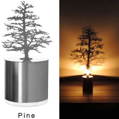 Novel LED Pine Shadow Projection Night Light Home Candle Decoration Sleeping LampCrafts<br>Novel LED Pine Shadow Projection Night Light Home Candle Decoration Sleeping Lamp<br><br>Decorative Style: Simple and Modern<br>For: Student, Home, Hotel, Office, Restaurant, School<br>Material: Stainless Steel<br>Package Contents: 1 x Shadow Projection<br>Package size (L x W x H): 20.00 x 10.00 x 8.00 cm / 7.87 x 3.94 x 3.15 inches<br>Package weight: 0.3000 kg<br>Power Supply: Battery<br>Product size (L x W x H): 7.10 x 6.50 x 16.00 cm / 2.8 x 2.56 x 6.3 inches<br>Product weight: 0.1500 kg<br>Type: Decorative Lighting