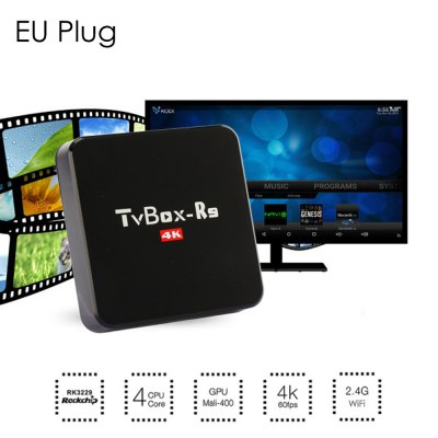 TV Box-R9 Android TV Box 4K HD 64BitTV Box<br>TV Box-R9 Android TV Box 4K HD 64Bit<br><br>Antenna: No<br>Audio format: AC3, TrueHD, OGG, MP3, WAV, HD, FLAC, APE, DTS, DDP, AAC, WMA<br>Color: Black<br>Core: Quad Core, Cortex A7<br>CPU: RK3229<br>Decoder Format: Xvid/DivX3/4/5/6, RM/RMVB, HD MPEG1/2/4, H.264, H.265, HD AVC/VC-1, RealVideo8/9/10<br>GPU: Mali-400<br>Interface: SD Card Slot, USB2.0, SPDIF, HDMI, DC 5V, AV, RJ45<br>Language: Multi-language<br>Model: TV Box-R9<br>Package Contents: 1 x TV Box-R9 TV Box, 1 x IR Remote Control, 1 x HDMI Cable, 1 x Power Adapter, 1 x English Manual<br>Package size (L x W x H): 20.00 x 15.10 x 5.00 cm / 7.87 x 5.94 x 1.97 inches<br>Package weight: 0.4700 kg<br>Photo Format: BMP, PNG, JPEG, GIF, TIFF<br>Power Adapter Output: 5V 2A<br>Power Input Vol: 5V<br>Power Supply: Charge Adapter<br>Power Type: External Power Adapter Mode<br>Product size (L x W x H): 12.30 x 12.30 x 2.50 cm / 4.84 x 4.84 x 0.98 inches<br>Product weight: 0.2300 kg<br>RAM: 1G RAM<br>RAM Type: DDR3<br>ROM: 8G ROM<br>System: Android 4.4<br>System Bit: 32Bit<br>Type: TV Box<br>Video format: ASF, AVI, VOB, TS, RMVB, RM, MPEG, MOV, MKV, MPG, ISO, FLV, DAT, WMV<br>WIFI: IEEE 802.11 b/g/n