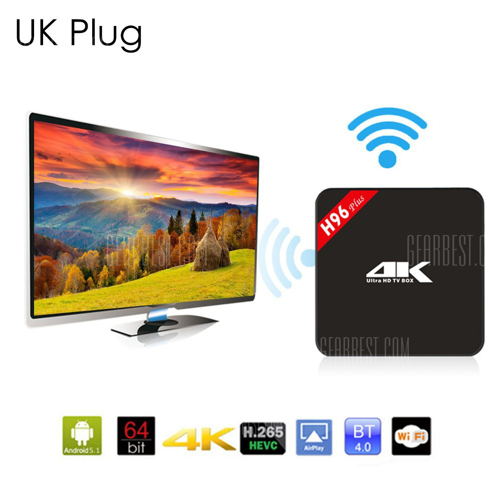 H96 Plus 4K HD TV Box 64Bit Android 5.1