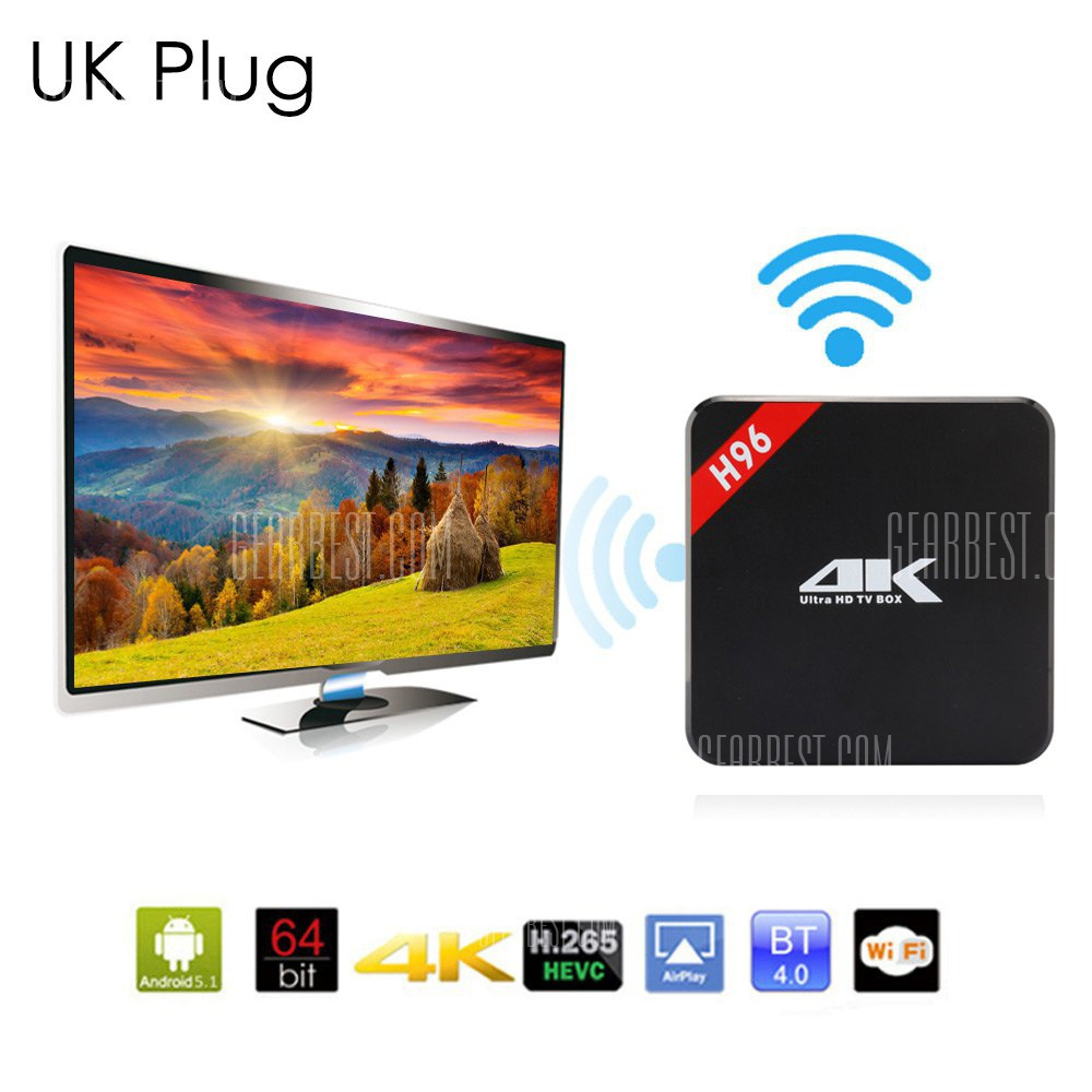 H96 4K HD TV Box 64Bit Android 5.1