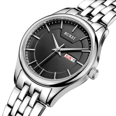 BUREI Simple Style Hardlex Mirror Women Quartz Watch