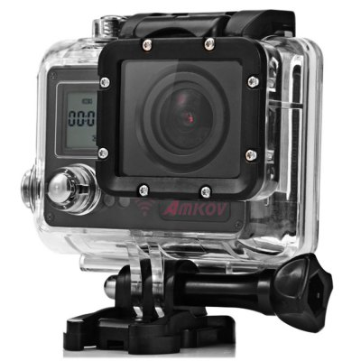 Amkov AMK7000S 4K Ultra HD WiFi Action Camera with Remote Controller