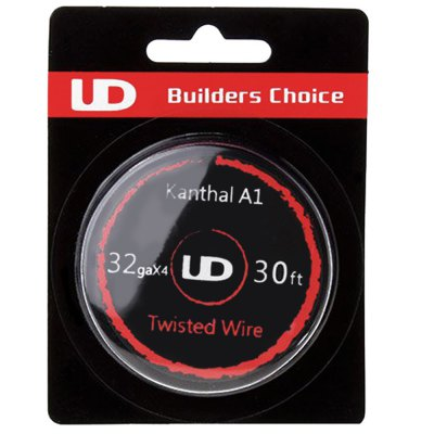 Original Youde UD Kanthal A1 Twisted Resistance WireAccessories<br>Original Youde UD Kanthal A1 Twisted Resistance Wire<br><br>Accessories type: Wicks/Wires<br>Available Color: Silver<br>Brand: Youde<br>Material: Kanthal<br>Package Contents: 1 x Youde UD Resistance Wire ( 10m )<br>Package size (L x W x H): 7.40 x 9.40 x 2.50 cm / 2.91 x 3.7 x 0.98 inches<br>Package weight: 0.0400 kg<br>Product size (L x W x H): 4.80 x 4.80 x 1.50 cm / 1.89 x 1.89 x 0.59 inches<br>Product weight: 0.0050 kg<br>Type: Electronic Cigarettes Accessories