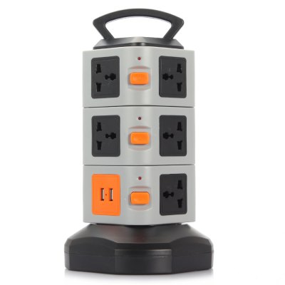 2 USB 2.0 Charger + 11 Triporate Ports Socket