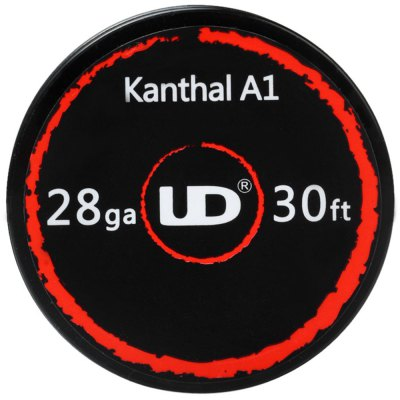 Original Youde Kanthal A1 Wire 10m 30 Feet E-cigarette Coils WireAccessories<br>Original Youde Kanthal A1 Wire 10m 30 Feet E-cigarette Coils Wire<br><br>Accessories type: Wicks/Wires<br>Available Color: Silver<br>Brand: Youde<br>Material: Chromium, Kanthal<br>Package Contents: 1 x Resistance Wire Roll (10M)<br>Package size (L x W x H): 7.50 x 9.50 x 2.50 cm / 2.95 x 3.74 x 0.98 inches<br>Package weight: 0.050 kg<br>Product size (L x W x H): 4.80 x 4.80 x 1.50 cm / 1.89 x 1.89 x 0.59 inches<br>Product weight: 0.020 kg<br>Type: Electronic Cigarettes Accessories