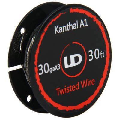 Original Youde UD 30ga x 3 Kanthal A1 Twisted WireAccessories<br>Original Youde UD 30ga x 3 Kanthal A1 Twisted Wire<br><br>Accessories type: Wicks/Wires<br>Available Color: Silver<br>Brand: Youde<br>Material: Kanthal<br>Package Contents: 1 x Youde UD 30ga x 3 Kanthal A1 Twisted Wire<br>Package size (L x W x H): 7.40 x 9.40 x 2.50 cm / 2.91 x 3.7 x 0.98 inches<br>Package weight: 0.068 kg<br>Product size (L x W x H): 4.80 x 4.80 x 1.50 cm / 1.89 x 1.89 x 0.59 inches<br>Product weight: 0.015 kg<br>Type: Electronic Cigarettes Accessories