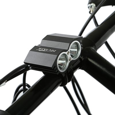 DECAKER XML - T6 Bicycle LightBike Lights<br>DECAKER XML - T6 Bicycle Light<br><br>Brand: Decaker<br>Color: Black<br>Features: Superbright, Low Power Consumption, Easy to Install<br>LED Quantity: 2<br>Package Contents: 1 x EDCAKER Bicycle Light, 1 x Power Adapter, 4 x Rechargeable Lithium-ion Battery, 2 x Rubber Ring, 1 x Battery Bag<br>Package Dimension: 23.50 x 8.50 x 8.50 cm / 9.25 x 3.35 x 3.35 inches<br>Placement: Handlebar<br>Product Dimension: 6.20 x 4.10 x 3.80 cm / 2.44 x 1.61 x 1.5 inches<br>Product weight: 0.106 kg<br>Suitable for: Mountain Bicycle, Cross-Country Cycling, Fixed Gear Bicycle, Touring Bicycle, Road Bike<br>Type: Front Light