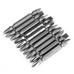 10PCS 65MM S2 Alloy Steel PH2 Screwdriver Bit with Double Head