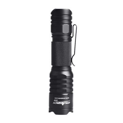 OrcaTorch T11 CREE FlashlightLED Flashlights<br>OrcaTorch T11 CREE Flashlight<br><br>Available Light Color: White<br>Battery Included or Not: No<br>Battery Quantity: 1 x AA battery (not included)<br>Battery Type: 14500<br>Beam Distance: 100-150m<br>Body Material: Aerospace-grade Aluminum Alloy<br>Brand: OrcaTorch<br>Emitters: Cree XP-G2 R5<br>Emitters Quantity: 1<br>Feature: Waterproof, Underwater, Portable, Pocket Clip, Lanyard, Cooling Slot of High Efficiency, Anti-Roll Rugged Design, Adjustable brightness<br>Flashlight size: Mid size<br>Flashlight Type: Handheld,Tiny<br>Function: EDC, Walking, Night Riding, Military and Tactical, Household Use, Camping, Hiking<br>Impact Resistance: 1.5M<br>Lens: Toughened Ultra-clear Glass Lens with Anti-reflective Coating<br>Light color: White light<br>Light Modes: High,Low,SOS,Strobe,Turbo<br>Lumens Range: 1-200Lumens<br>Luminous Flux: 190LM<br>Luminous Intensity: 2829cd<br>Max.: 60h<br>Mode: 6(Turbo - High - Mid - Low - Strobe - SOS)<br>Model: T11<br>Package Contents: 1 x OrcaTorch T11 LED Flashlight, 1 x Holster, 1 x Lanyard, 1 x O-ring<br>Package size (L x W x H): 13.00 x 6.00 x 5.00 cm / 5.12 x 2.36 x 1.97 inches<br>Package weight: 0.1100 kg<br>Power Source: Battery<br>Product size (L x W x H): 10.50 x 2.50 x 2.50 cm / 4.13 x 0.98 x 0.98 inches<br>Product weight: 0.0550 kg<br>Reflector: Aluminum Smooth Reflector<br>Switch Location: Tail Cap<br>Waterproof Standard: IPX-8 Standard Waterproof (Underwater 2m)<br>Working Voltage: 0.8-3V