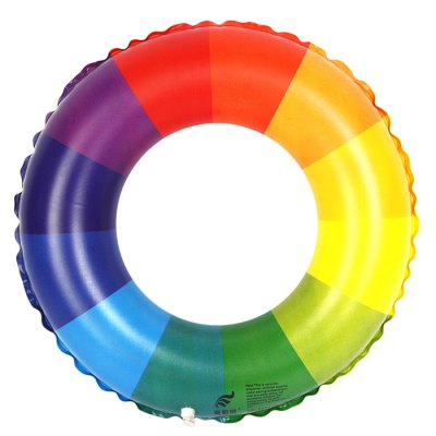 Inflatable Rainbow Swim Ring