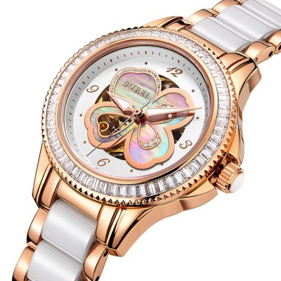 BUREI Fashion Automatic Mechanical Women Watch