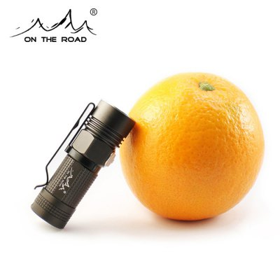 ON THE ROAD M3 920Lm Cree L2 U2 5C 16340 LED FlashlightLED Flashlights<br>ON THE ROAD M3 920Lm Cree L2 U2 5C 16340 LED Flashlight<br><br>Brand: ON THE ROAD<br>Model: M3<br>Lamp Beads: Cree XM-L2 U2<br>Beads Number: 1<br>Lumens Range: 500-1000Lumens<br>Luminous Flux: 920Lm<br>Luminous Intensity: 4200cd<br>Color Temperature: 1A 6500-7000K; 5C 3800-4000K<br>Switch Type: Side Clicky<br>Feature: Anti-Roll Rugged Design,Die-cast Unibody,Lightweight,Overheating Protection,Pocket Clip,Power Indicator,Stainless Steel Bezel<br>Function: Camping,EDC,Exploring,Hiking,Household Use,Night Riding,Walking<br>Battery Type: 16340,CR123A,RCR123<br>Battery Quantity: 1 x 16340 / CR123A / RCR123 battery (not included)<br>Mode: 8(Turbo - High - Mid - Low - Ultra Low - SOS - Strobe - Location Beacon)<br>Mode Memory: Yes<br>Waterproof Standard: IPX-8 Standard Waterproof<br>Power Source: Battery<br>Working Voltage: 3.7V<br>Charger Input Voltage: 110-240V<br>Charger Output Voltage: 4.2V 0.6A<br>Reflector: Aluminum Smooth Reflector<br>Lens: Glass Convex Lens<br>Impact Resistance: 2M<br>Beam Distance: 100-150m<br>Body Material: Aerospace-grade Aluminum Alloy<br>Available Light Color: Cool White,Neutral White<br>Available color: Titanium Grey<br>Max.: 70h<br>Product weight: 0.039 kg<br>Package weight: 0.155 kg<br>Product size (L x W x H): 7.00 x 2.30 x 2.30 cm / 2.76 x 0.91 x 0.91 inches<br>Package size (L x W x H): 12.00 x 10.00 x 5.00 cm / 4.72 x 3.94 x 1.97 inches<br>Package Contents: 1 x LED Flashlight, 1 x Lanyard, 1 x Holster, 2 x O-ring