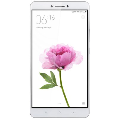Xiaomi Mi Max 32GB ROM 4G PhabletCell phones<br>Xiaomi Mi Max 32GB ROM 4G Phablet<br><br>Brand: Xiaomi<br>Type: 4G Phablet<br>OS: Android 6.0<br>Service Provide: Unlocked<br>Language: Indonesian, Malay, German, English, Spanish, French, Italian, Lithuanian, Hungarian, Polish, Portuguese, Romanian, Slovak, Vietnamese, Turkish,  Czech, Macedonian, Russian, Ukrainian, Hindi, Marathi,<br>SIM Card Slot: Dual SIM,Dual Standby<br>SIM Card Type: Micro SIM Card,Nano SIM Card<br>CPU: Qualcomm Snapdragon 650 64bit<br>Cores: 1.8GHz,Hexa Core<br>GPU: Adreno 510<br>RAM: 3GB RAM<br>ROM: 32GB<br>External Memory: TF card up to 128GB (not included)<br>Wireless Connectivity: 3G,4G,A-GPS,Bluetooth,GPS,GSM,WiFi<br>WIFI: 802.11a/b/g/n/ac wireless internet<br>Network type: FDD-LTE+WCDMA+GSM<br>2G: GSM 850/900/1800/1900MHz<br>3G: WCDMA 850/900/1900/2100MHz<br>4G: FDD-LTE 1800/2100/2600MHz<br>Screen type: 2.5D Arc Screen<br>Screen size: 6.44 inch<br>Screen resolution: 1920 x 1080 (FHD)<br>Camera type: Dual cameras (one front one back)<br>Back camera: 16.0MP,with flash light and AF<br>Front camera: 5.0MP<br>Video recording: Yes<br>Aperture: f/2.0<br>Auto Focus: Yes<br>Flashlight: Yes<br>Camera Functions: Face Beauty,Face Detection,HDR,Panorama Shot<br>Picture format: BMP,GIF,JPEG,PNG<br>Music format: AAC,AMR,MP3,WAV<br>Video format: ASF,MKV,MP4<br>MS Office format: Excel,PPT,Word<br>E-book format: PDF,TXT<br>I/O Interface: 1 x Micro SIM Card Slot,1 x Nano SIM Card Slot,3.5mm Audio Out Port,Micro USB Slot<br>Sensor: Accelerometer,Ambient Light Sensor,E-Compass,Gravity Sensor,Gyroscope,Hall Sensor,Proximity Sensor<br>Notification LED: Yes<br>Sound Recorder: Yes<br>Additional Features: 4G,Bluetooth,Browser,Calculator,Calendar,E-book,Fingerprint recognition,GPS,MP3,MP4,People,Sound Recorder,Video Call,Wi-Fi<br>Battery Capacity (mAh): 4850mAh<br>Battery Type: Non-removable<br>Cell Phone: 1<br>Power Adapter: 1<br>USB Cable: 1<br>SIM Needle: 1<br>Product size: 17.30 x 8.80 x 0.60 cm / 6.81 x 3.46 x