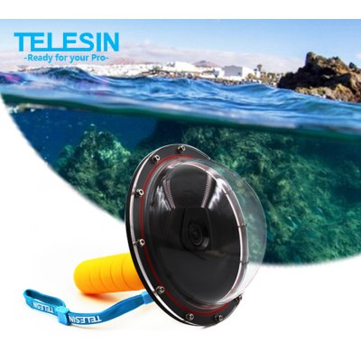 TELESIN Underwater Diving Camera Cover Lens for Xiaomi Yi