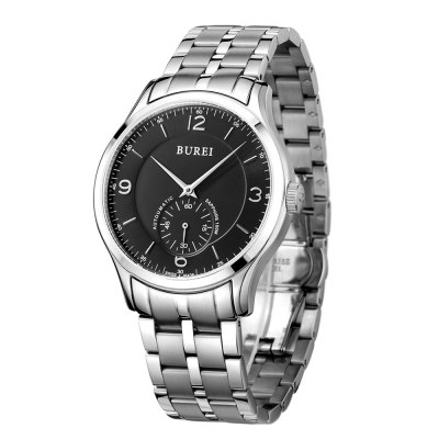BUREI Customized Movement Automatic Mechanical Men WatchMens Watches<br>BUREI Customized Movement Automatic Mechanical Men Watch<br><br>Band material: Stainless Steel<br>Band size: 22 x 2 cm / 8.66 x 0.79 inches<br>Case material: Stainless Steel<br>Clasp type: Butterfly clasp<br>Dial size: 4.1 x 4.1 x 1 cm / 1.61 x 1.61 x 0.39 inches<br>Display type: Analog<br>Movement type: Automatic mechanical watch<br>Package Contents: 1 x BUREI Automatic Mechanical Men Watch<br>Package size (L x W x H): 28.00 x 8.00 x 3.50 cm / 11.02 x 3.15 x 1.38 inches<br>Package weight: 0.195 kg<br>Product size (L x W x H): 22.00 x 4.10 x 1.00 cm / 8.66 x 1.61 x 0.39 inches<br>Product weight: 0.135 kg<br>Shape of the dial: Round<br>Special features: Working sub-dial<br>Watch color: Black + Gold, White + Gold, Black + Silver, White + Silver<br>Watch mirror: Sapphire<br>Watch style: Business<br>Watches categories: Male table<br>Water resistance : 100 meters