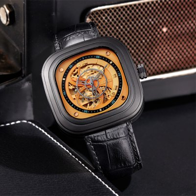 BUREI Sports Business Square Automatic Mechanical Men Watch