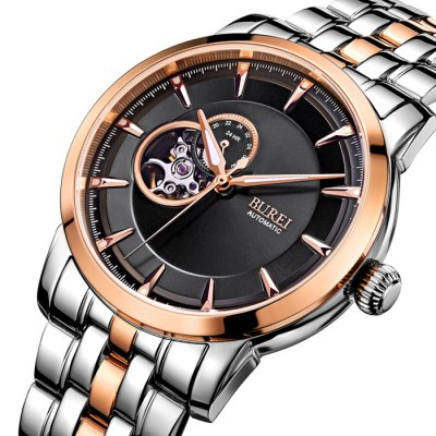 BUREI Business Automatic Mechanical Men WatchMens Watches<br>BUREI Business Automatic Mechanical Men Watch<br><br>Available Color: Black,Gold,Rose Gold,Silver<br>Band material: Stainless Steel<br>Band size: 23.2 x 2.2 cm / 9.13 x 0.87 inches<br>Case material: Stainless Steel<br>Clasp type: Butterfly clasp<br>Dial size: 4.2 x 4.2 x 1.2 cm / 1.65 x 1.65 x 0.47 inches<br>Display type: Analog<br>Movement type: Automatic mechanical watch<br>Package Contents: 1 x BUREI Business Business Automatic Mechanical Men Watch<br>Package size (L x W x H): 28.00 x 8.00 x 3.50 cm / 11.02 x 3.15 x 1.38 inches<br>Package weight: 0.210 kg<br>Product size (L x W x H): 23.20 x 4.20 x 1.20 cm / 9.13 x 1.65 x 0.47 inches<br>Product weight: 0.150 kg<br>Shape of the dial: Round<br>Special features: Working sub-dial, Luminous<br>Watch style: Business<br>Watches categories: Male table<br>Water resistance : 50 meters