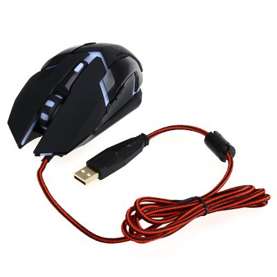 LeiJie A2 Wired USB Gaming Mouse with Breathing Lamp