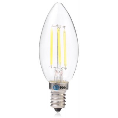 BRELONG E14 4W 4 x COB 400LM Dimmable Filament LED Candle Bulb