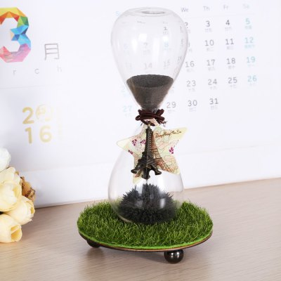 Novel Hourglass Sand Timer with Magnet Iron Holder