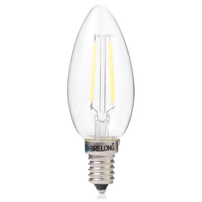 BRELONG E14 2W COB 200Lm Dimmable LED Candle Bulb