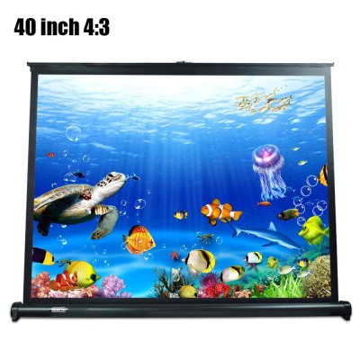 Folding Table-top Projection ScreenProjectors<br>Folding Table-top Projection Screen<br><br>Package Contents: 1 x Projection Screen<br>Package size (L x W x H): 9.50 x 9.50 x 125.20 cm / 3.74 x 3.74 x 49.29 inches<br>Package weight: 1.8600 kg<br>Product size (L x W x H): 110.70 x 62.30 x 0.01 cm / 43.58 x 24.53 x 0 inches<br>Product weight: 1.8000 kg