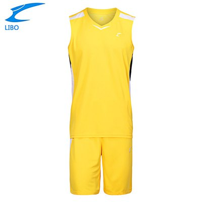 LIBO Breathable Fitness Sleeveless Basketball Suits for Male