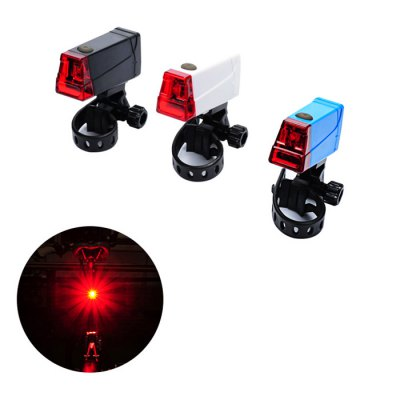 LEADBIKE A55 Bicycle Tail LightBike Lights<br>LEADBIKE A55 Bicycle Tail Light<br><br>Brand: LEADBIKE<br>Model Number: A55<br>Color: Black,Blue,White<br>Suitable for: Electric Bicycle,Fixed Gear Bicycle,Mountain Bicycle,Road Bike<br>Type: Tail Light<br>Placement: Saddle Tube<br>Best Use: Backpacking,Camping,Climbing,Hiking<br>Features: Easy to Install,Low Power Consumption,Superbright<br>LED Quantity: 1pc<br>Product weight: 0.072 kg<br>Packge Weight: 0.140 kg<br>Product Dimension: 4.50 x 2.50 x 2.60 cm / 1.77 x 0.98 x 1.02 inches<br>Package Dimension: 8.00 x 5.00 x 2.00 cm / 3.15 x 1.97 x 0.79 inches<br>Package Contents: 1 x LEADBIKE A55 Tail Light, 1 x Clip, 2 x AAA Battery