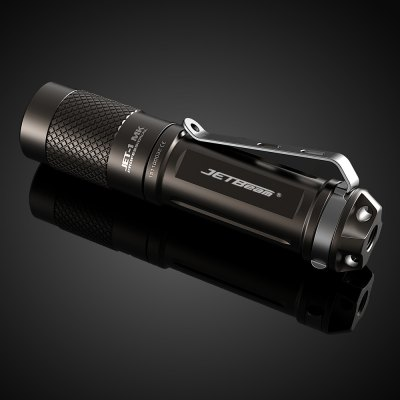 Jetbeam JET - I MK LED FlashlightLED Flashlights<br>Jetbeam JET - I MK LED Flashlight<br><br>Brand: JETBeam<br>Model: JET-I MK<br>Emitters: Cree XP-G2<br>Emitters Quantity: 1<br>Lumens Range: 200-500Lumens<br>Luminous Flux: 480LM<br>Luminous Intensity: 4200cd<br>Power: 2.5W<br>Color Temperature: 6500-7000K<br>Feature: Lightweight,Pocket Clip<br>Function: Camping,EDC,Hiking,Household Use,Night Riding,Walking<br>Switch Type: Twisty<br>Mode: 3 (High &gt; Mid &gt; Low)<br>Battery Type: 14500,AA<br>Battery Quantity: 1 x AA / 14500 battery (not included)<br>Mode Memory: Yes<br>Waterproof Standard: IPX-8 Standard Waterproof (Underwater 2m)<br>Power Source: Battery<br>Working Voltage: 1.5V<br>Lens: Toughened Ultra-clear Mineral Glass Lens<br>Beam Distance: 100-150m<br>Impact Resistance: 1M<br>Flashlight Processing Technology: Aerospace Grade Aluminum Body with Anti Scratching Type III Hard Anodization<br>Available Light Color: Cool White<br>Available color: Grey<br>High Mode: 1.1h 150LM / 0.5h 480LM<br>Mid Mode: 9h 30LM<br>Low Mode: 100h 1.5LM<br>Max.: 100h<br>Product weight: 0.017 kg<br>Package weight: 0.085 kg<br>Product size (L x W x H): 8.32 x 1.95 x 1.95 cm / 3.28 x 0.77 x 0.77 inches<br>Package size (L x W x H): 10.00 x 16.00 x 3.00 cm / 3.94 x 6.3 x 1.18 inches<br>Package Contents: 1 x Jetbeam JET-I MK LED Flashlight, 1 x English Manual