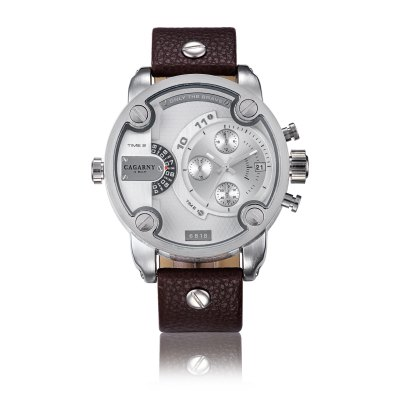 CAGARNY 6818 Fashion Decorative Sub-dial Men Quartz WatchMens Watches<br>CAGARNY 6818 Fashion Decorative Sub-dial Men Quartz Watch<br><br>Available Color: Black,Brown<br>Band material: Genuine Leather<br>Band size: 18 x 2.2 cm / 7.09 x 0.87 inches<br>Brand: Cagarny<br>Case material: Stainless Steel<br>Clasp type: Pin buckle<br>Dial size: 5.2 x 5.2 x 1.4 cm / 2.05 x 0.55 inches<br>Display type: Analog<br>Movement type: Quartz watch<br>Package Contents: 1 x CAGARNY 6818 Fashion Men Quartz Watch<br>Package size (L x W x H): 9.00 x 9.00 x 5.80 cm / 3.54 x 3.54 x 2.28 inches<br>Package weight: 0.230 kg<br>Product size (L x W x H): 18.00 x 5.20 x 1.40 cm / 7.09 x 2.05 x 0.55 inches<br>Product weight: 0.120 kg<br>Shape of the dial: Round<br>Watch style: Fashion<br>Watches categories: Male table<br>Water resistance : Life water resistant