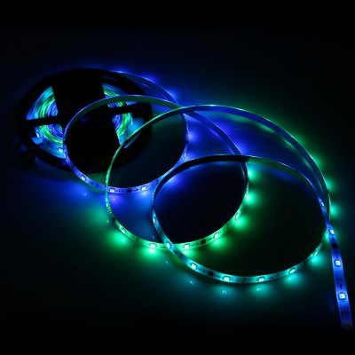 5M RGB 150 x SMD5050 Waterproof LED Light Strip 12V 36WLED Strips<br>5M RGB 150 x SMD5050 Waterproof LED Light Strip 12V 36W<br><br>Connector Type: 3Pin<br>Features: Cuttable, IP-65, Low Power Consumption, Waterproof<br>Input Voltage: DC12<br>LED Type: SMD-5050<br>Material: Silicone, FPC<br>Number of LEDs: 30 x SMD 5050 / M, 150 x SMD 5050 / 5M<br>Optional Light Color: RGB<br>Package Contents: 1 x RGB Strip Light<br>Package size (L x W x H): 19.00 x 20.00 x 1.50 cm / 7.48 x 7.87 x 0.59 inches<br>Package weight: 0.263 kg<br>Product size (L x W x H): 500.00 x 1.00 x 0.50 cm / 196.85 x 0.39 x 0.2 inches<br>Product weight: 0.203 kg<br>Rated Power (W): 36W<br>Type: LED Strip