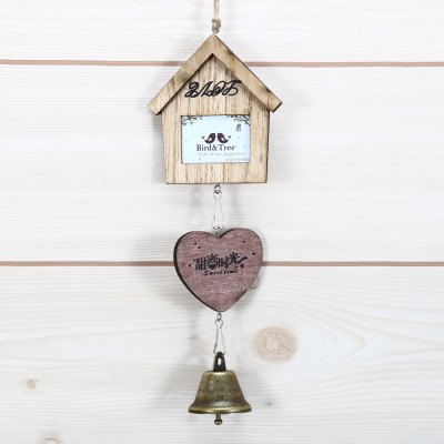 Small House and Heart Shape Wind Chimes