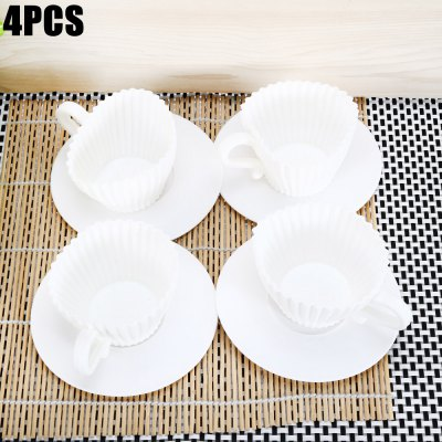 4PCS Silicone Cake Cups