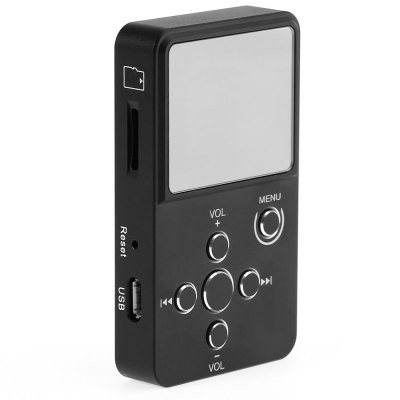 XDuoo X2 Portable HiFi Music MP3 Audio PlayerMP3 &amp; MP4 Players<br>XDuoo X2 Portable HiFi Music MP3 Audio Player<br><br>Model: X2<br>Color: Black<br>Interface: 3.5mm audio jack,TF/Micro SD Card Slot<br>Optional Language : English,French,German,Indonesian,Japanese,Korean,Polish,Russian,Simplified Chinese,Thai,Traditional Chinese<br>Memory Play: Yes<br>Waterproof: No<br>CPU: Artek<br>Extension card : TF card (not included)<br>Max support memory: 32GB<br>Screen size: 0.96 inch<br>Audio support: APE,FLAC,MP3,WAV,WMA<br>Product weight: 0.050 kg<br>Package weight: 0.128 kg<br>Product size (L x W x H): 7.00 x 4.00 x 1.30 cm / 2.76 x 1.57 x 0.51 inches<br>Package size (L x W x H): 17.00 x 8.50 x 2.80 cm / 6.69 x 3.35 x 1.1 inches<br>Package Contents: 1 x MP3, 1 x USB Cable, 1 x Chinese and English User Manual