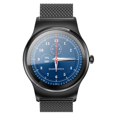 SMA - R Dual Bluetooth Smart WatchSmart Watches<br>SMA - R Dual Bluetooth Smart Watch<br><br>Brand: SMA<br>Built-in chip type: MTK2502<br>Bluetooth version: Bluetooth 3.0/4.0 Double Mode<br>RAM: 128MB<br>ROM: 64MB<br>Waterproof: Yes<br>IP rating: IP54<br>Bluetooth calling: Answering,Call log sync,Dialing,Phone call reminder,Phonebook<br>Messaging: Message reminder<br>Health tracker: Heart rate monitor,Pedometer,Sedentary reminder,Sleep monitor<br>Remote control function: Remote Camera,Remote music<br>Notification: Yes<br>Notification type: Facebook,G-mail,Twitter,WhatsApp<br>Find phone: Yes<br>Groups of alarm: 5<br>Alert type: Ring,Vibration<br>Locking screen : 6<br>Other Function: Alarm,Calculator,Calender,Siri,Voice recorder<br>Screen: IPS<br>Screen resolution: 240 x 240<br>Screen size: 1.3 inch<br>Operating mode: Touch Screen<br>Type of battery: Polymer Battery<br>Battery Capacty: 300mAh<br>Charging time: About 2hours<br>Standby time: About 5 Days<br>People: Female table,Male table<br>Shape of the dial: Round<br>Case material: Stainless Steel<br>Band material: Genuine Leather<br>Compatible OS: Android,IOS<br>Compatability: Android 4.4 / iOS 8.0 and above system<br>Language: Dutch,English,French,German,Italian,Polish,Portuguese,Russian,Spanish,Turkish<br>Available color: Black,Brown<br>Dial size: 4.45 x 4.45 x 1.22 cm / 1.75 x 1.75 x 0.48 inches<br>Band size: 20 x 2.2 cm / 7.87 x 0.87 inches<br>Product size (L x W x H): 20.00 x 4.45 x 1.22 cm / 7.87 x 1.75 x 0.48 inches<br>Package size (L x W x H): 9.90 x 9.90 x 7.20 cm / 3.9 x 3.9 x 2.83 inches<br>Product weight: 0.070 kg<br>Package weight: 0.234 kg<br>Package Contents: 1 x SMA - R Smart Band, 1 x English User Manual, 1 x Charging Cable