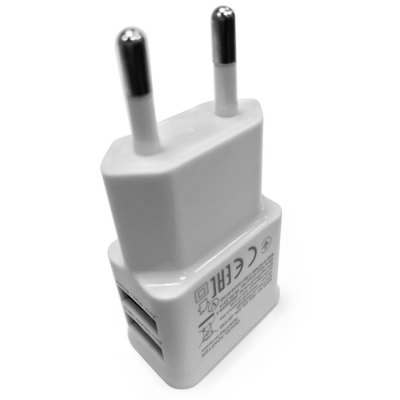 Practical 100  -  240V AC Input Dual USB Outputs EU Plug Power Adapter