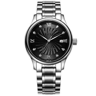BUREI Business Automatic Mechanical Men WatchMens Watches<br>BUREI Business Automatic Mechanical Men Watch<br><br>Band material: Stainless Steel<br>Band size: 23 x 1.8 cm / 9.06 x 0.71 inches<br>Case material: Stainless Steel<br>Clasp type: Butterfly clasp<br>Dial size: 3.8 x 3.8 x 1.2 cm / 1.5 x 1.5 x 0.47 inches<br>Display type: Analog<br>Movement type: Automatic mechanical watch<br>Package Contents: 1 x BUREI Business Automatic Mechanical Men Watch<br>Package size (L x W x H): 28.00 x 8.00 x 3.50 cm / 11.02 x 3.15 x 1.38 inches<br>Package weight: 0.193 kg<br>Product size (L x W x H): 23.00 x 3.80 x 1.20 cm / 9.06 x 1.5 x 0.47 inches<br>Product weight: 0.133 kg<br>Shape of the dial: Round<br>Watch color: Black + Gold, Black + Silver, White + Gold, Blue + Silver<br>Watch mirror: Sapphire<br>Watch style: Business<br>Watches categories: Male table<br>Water resistance : 100 meters