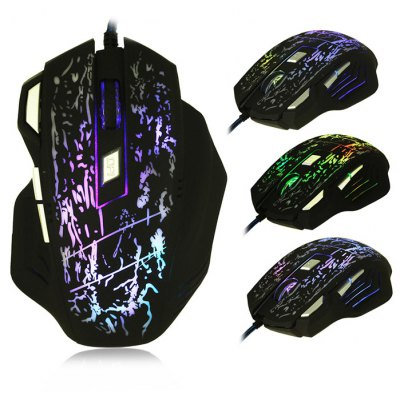 bEITRS X3 Wired Gaming Mouse with Breathing Lamp